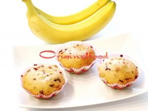 Банановые маффины с шоколадной крошкой