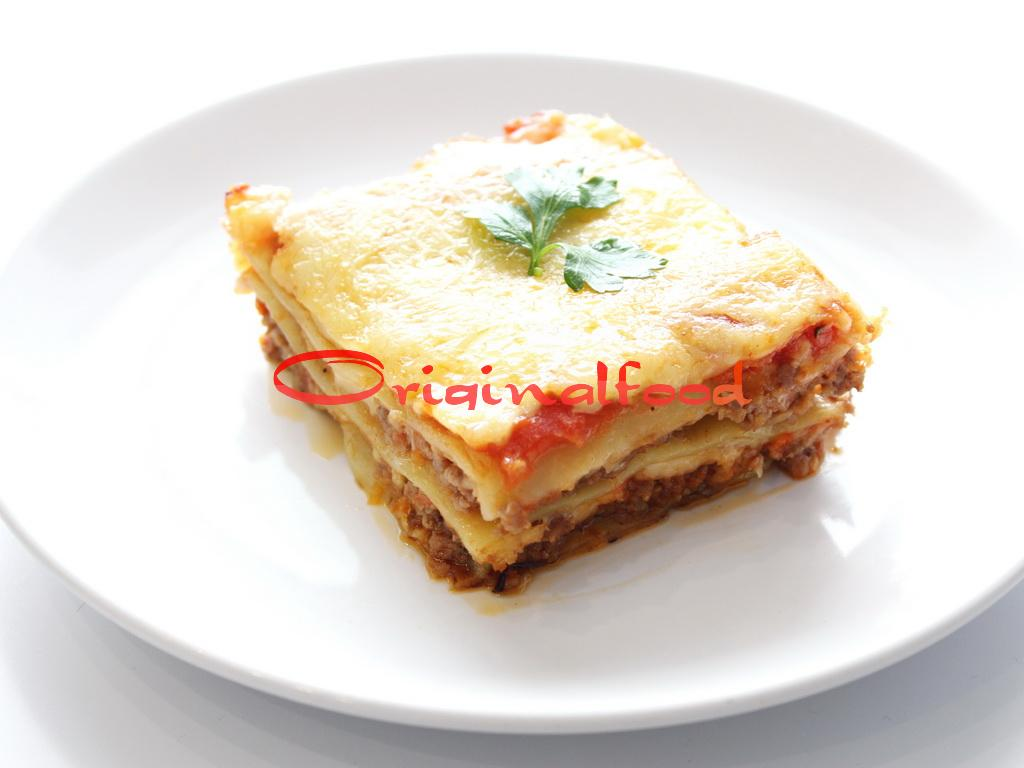 Лазанья в томатном соусе с орегано и чили перцем