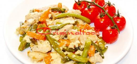 Фрикасе из курицы с овощами