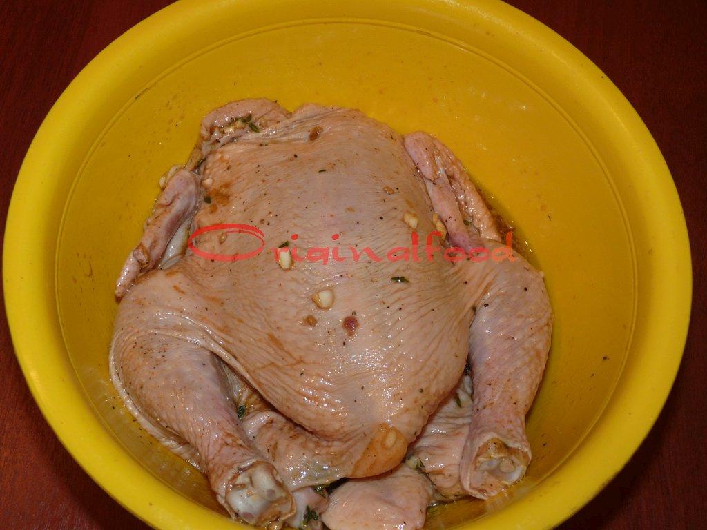 Фаршированная курица рисом и черносливом в духовке рецепт пошагово