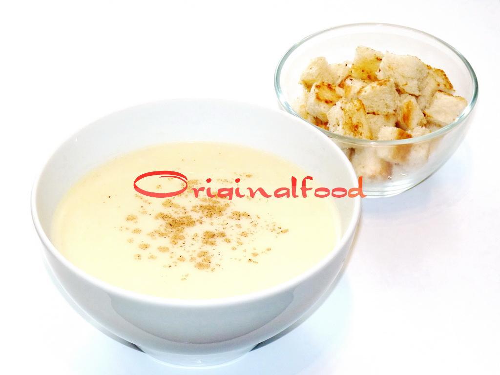 Сырный суп-пюре из цветной капусты