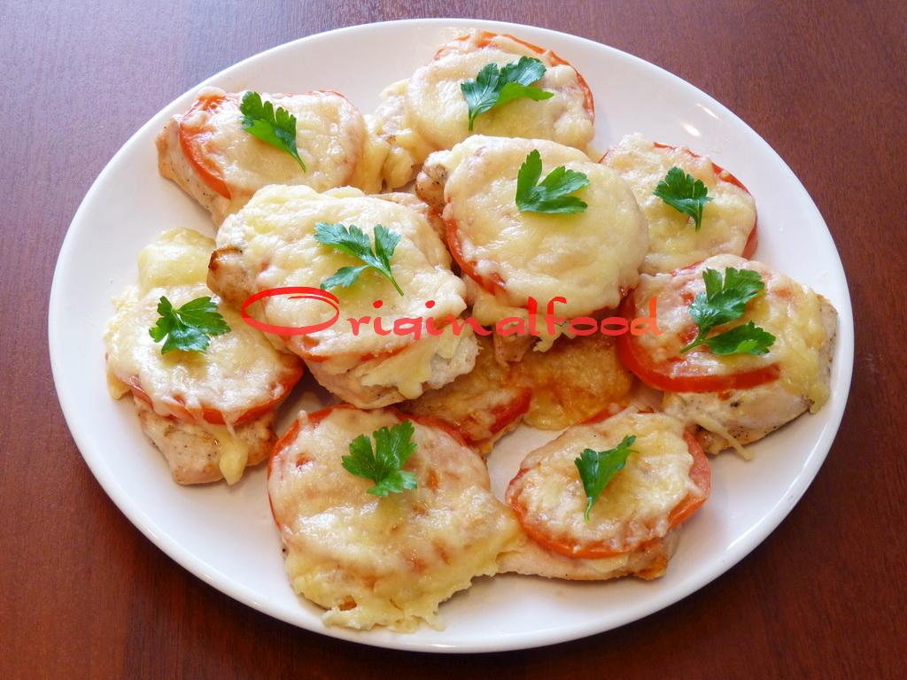 курица запеченная с кабачками и помидорами в духовке