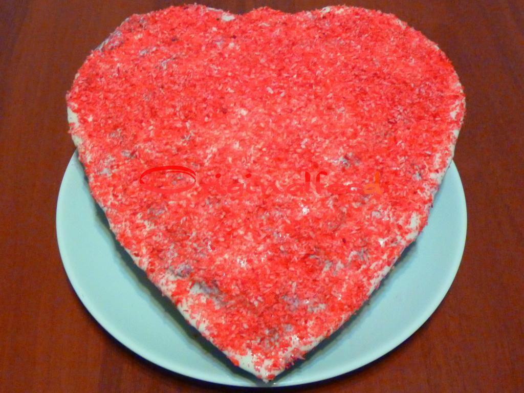 Клубничный пирог Сердце