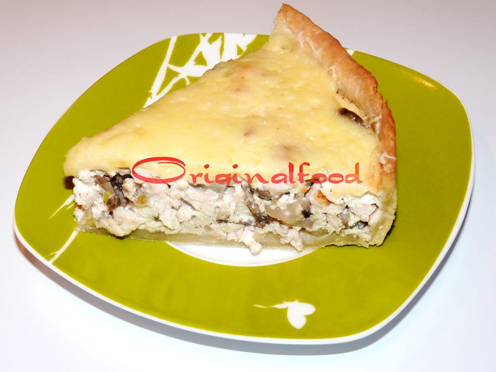 Очень вкусный пирог с курицей и грибами