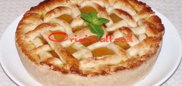 купить рецепт пирога с консервированными персиками вот