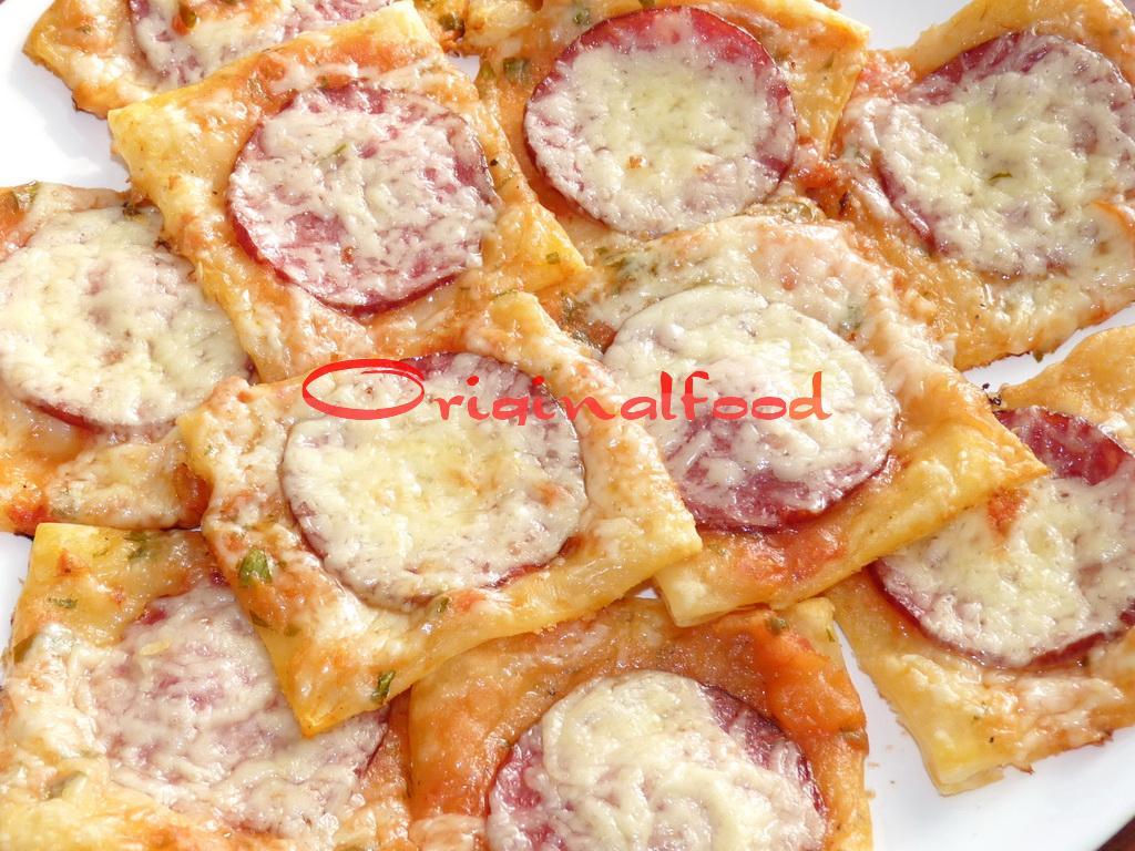 Закуска мини пиццы