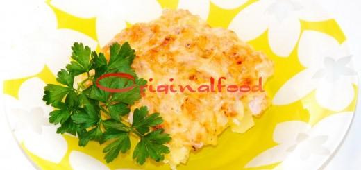 Копченая курица с картофелем в духовке